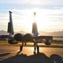 Wschód słońca na Alasce // F-15C z 104 Skrzydła Myśliwskiego