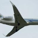 Dassault Falcon 900LX Gazpromavia-Russia State Transport Company nr. takt. RA-09600 na sciezce znizania RWY11.