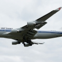 Boeing B-747-400P Air China nr. takt-rej. B-2472 na sciezce znizania RWY33.a.