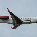 Embraer ERJ-135BJ Legacy Europ Star nr. rej. OE-IDH na sciezce znizania RWY11.