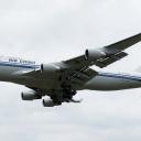 Boeing B-747-400P Air China nr. takt-rej. B-2472 na sciezce znizania RWY33.b.