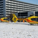 Dwa Eurocoptery EC-135 ze Szczecina HXH i Lodzi HXY.