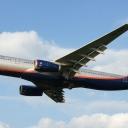Airbus A-330-300 Aeroflot nr. rej. VQ-BQY o nazwie ,Michajil Szolochow,, na sciezce znizania RWY33.a.