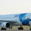 Airbus A-310 Sata Airlines nr. rej. CS-TKN na stojance nr. 46P.Blizej.