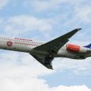 MD-82 Scandinavian Airlines nr. rej. OY-KHU na sciezce znizania RWY33.a.