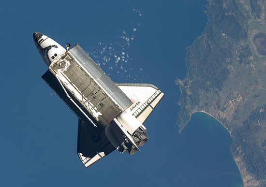STS-129_Atlantis_on_orbit